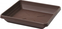 Plastia miska čtyřhranná Lotos - čokoládová 16x16