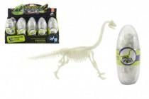 Vejce dinosaurus svítící 3D kostra plast 18cm asst - mix variant či barev