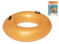 Kruh nafukovací 91 cm zlatý s úchyty