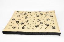 Matrace nylon Sucharda béžovo/černá tlapka 90 x 60 x 12 cm