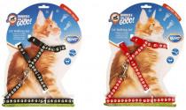 Postroj a vodítko big cat DUVO+ Pacičky 30-50cm/12mm-125cm