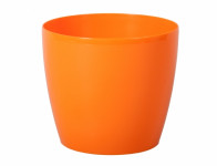 Obal na květník MAGNOLIE plast oranžový lesk d16x14cm