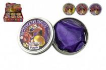 Hmota/modelína 50g inteligentní metalická 8cm mix barev v plechové krabičce - mix variant či barev - VÝPRODEJ