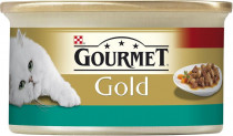 Gourmet Gold cat konz.-kousky losos a kuře 85 g