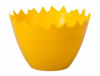Obal na květník SKOŘÁPKA plastový žlutý d17x10cm
