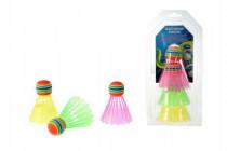 Míčky/Košíčky na badminton barevné plast