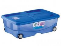 box úložný TRENDYCOLOR 26l, 60x40x18cm na koleč. s víkem plastový, MO, RŮŽ