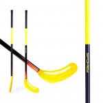 Spokey Avid II hokejka florbal žlutá rovná čepel