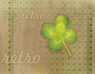 Balicí papír 100 x 70 cm 2 ks, RETRO-čtyřlístek, DITIPO - VÝPRODEJ