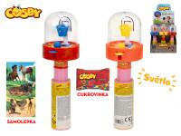 Cosby hra basketbal 20 cm na baterie se světlem s cukrovinkou a samolepkou - 12 ks - mix barev