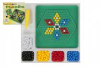 Mozaika kuličková s pinzetou malá 250 ks plast 12x12cm