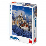 Puzzle zimní Neuschwanstein 47x66cm 1000 dílků